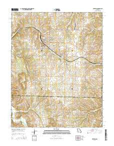 Everton Missouri Current topographic map, 1:24000 scale, 7.5 X 7.5 Minute, Year 2015