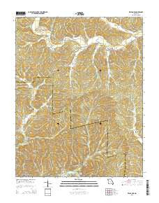 Exchange Missouri Current topographic map, 1:24000 scale, 7.5 X 7.5 Minute, Year 2015