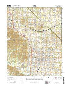 Farmington Missouri Current topographic map, 1:24000 scale, 7.5 X 7.5 Minute, Year 2015