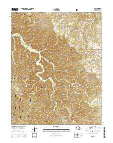 Flat Missouri Current topographic map, 1:24000 scale, 7.5 X 7.5 Minute, Year 2015