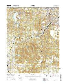 Flat River Missouri Current topographic map, 1:24000 scale, 7.5 X 7.5 Minute, Year 2015