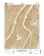 Florence Missouri Current topographic map, 1:24000 scale, 7.5 X 7.5 Minute, Year 2015 from Missouri Map Store