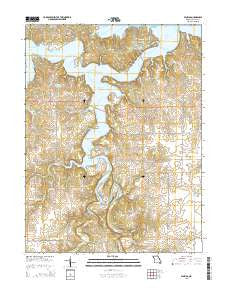 Florida Missouri Current topographic map, 1:24000 scale, 7.5 X 7.5 Minute, Year 2015
