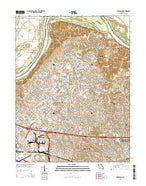 Florissant Missouri Current topographic map, 1:24000 scale, 7.5 X 7.5 Minute, Year 2015 from Missouri Map Store