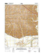 Forbes Missouri Current topographic map, 1:24000 scale, 7.5 X 7.5 Minute, Year 2015 from Missouri Map Store