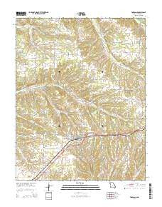 Fordland Missouri Current topographic map, 1:24000 scale, 7.5 X 7.5 Minute, Year 2015