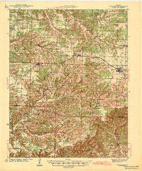 Fordland Missouri Historical topographic map, 1:62500 scale, 15 X 15 Minute, Year 1942