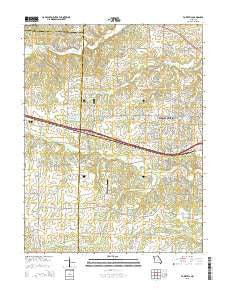 Foristell Missouri Current topographic map, 1:24000 scale, 7.5 X 7.5 Minute, Year 2015