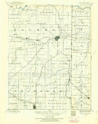 Fort Scott Kansas Historical topographic map, 1:125000 scale, 30 X 30 Minute, Year 1884