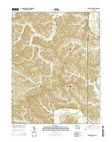Fredericksburg Missouri Current topographic map, 1:24000 scale, 7.5 X 7.5 Minute, Year 2015