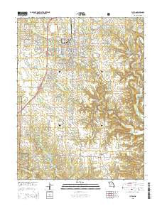 Fulton Missouri Current topographic map, 1:24000 scale, 7.5 X 7.5 Minute, Year 2015