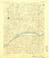 Fulton Missouri Historical topographic map, 1:125000 scale, 30 X 30 Minute, Year 1890