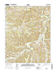 Fuson Missouri Current topographic map, 1:24000 scale, 7.5 X 7.5 Minute, Year 2015