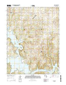 Gaines Missouri Current topographic map, 1:24000 scale, 7.5 X 7.5 Minute, Year 2015