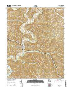 Galena Missouri Current topographic map, 1:24000 scale, 7.5 X 7.5 Minute, Year 2015