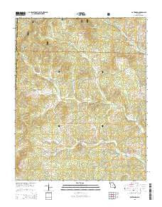 Gatewood Missouri Current topographic map, 1:24000 scale, 7.5 X 7.5 Minute, Year 2015
