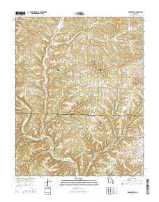 Gentryville Missouri Current topographic map, 1:24000 scale, 7.5 X 7.5 Minute, Year 2015