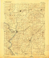 Glasgow Missouri Historical topographic map, 1:125000 scale, 30 X 30 Minute, Year 1890