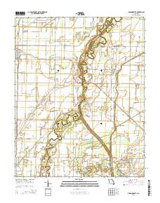 Glennonville Missouri Current topographic map, 1:24000 scale, 7.5 X 7.5 Minute, Year 2015