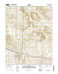 Golden City Missouri Current topographic map, 1:24000 scale, 7.5 X 7.5 Minute, Year 2015
