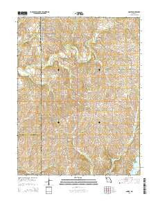 Gower Missouri Current topographic map, 1:24000 scale, 7.5 X 7.5 Minute, Year 2015