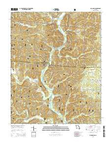 Grandin SW Missouri Current topographic map, 1:24000 scale, 7.5 X 7.5 Minute, Year 2015