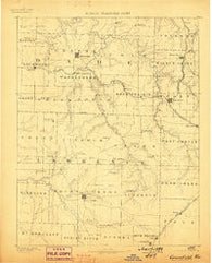 Greenfield Missouri Historical topographic map, 1:125000 scale, 30 X 30 Minute, Year 1888