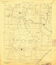 Greenfield Missouri Historical topographic map, 1:125000 scale, 30 X 30 Minute, Year 1886