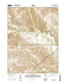 Greensburg Missouri Current topographic map, 1:24000 scale, 7.5 X 7.5 Minute, Year 2015