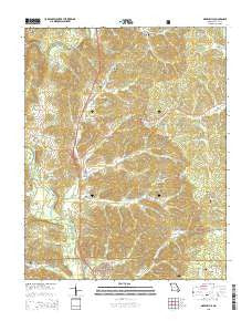 Greenville Missouri Current topographic map, 1:24000 scale, 7.5 X 7.5 Minute, Year 2015