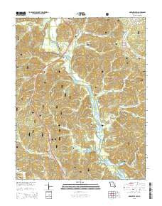 Greenville SW Missouri Current topographic map, 1:24000 scale, 7.5 X 7.5 Minute, Year 2015