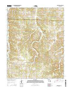 Grovespring Missouri Current topographic map, 1:24000 scale, 7.5 X 7.5 Minute, Year 2015