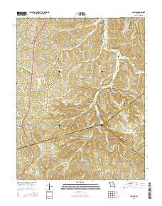 Halifax Missouri Current topographic map, 1:24000 scale, 7.5 X 7.5 Minute, Year 2015