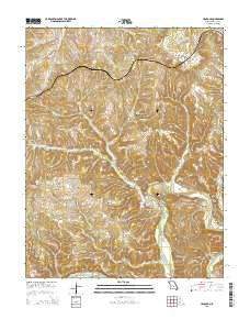 Hancock Missouri Current topographic map, 1:24000 scale, 7.5 X 7.5 Minute, Year 2015