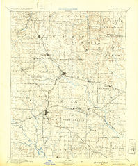 Harrisonville Missouri Historical topographic map, 1:125000 scale, 30 X 30 Minute, Year 1892