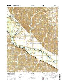 Hartsburg Missouri Current topographic map, 1:24000 scale, 7.5 X 7.5 Minute, Year 2015