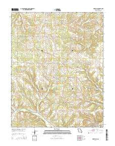 Hartville Missouri Current topographic map, 1:24000 scale, 7.5 X 7.5 Minute, Year 2015