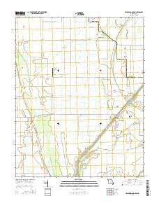 Henderson Mound Missouri Current topographic map, 1:24000 scale, 7.5 X 7.5 Minute, Year 2015