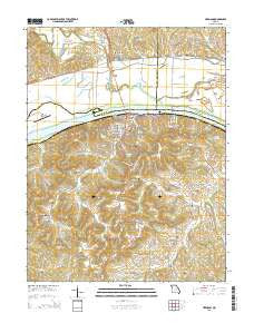 Hermann Missouri Current topographic map, 1:24000 scale, 7.5 X 7.5 Minute, Year 2015