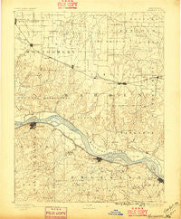 Hermann Missouri Historical topographic map, 1:125000 scale, 30 X 30 Minute, Year 1890