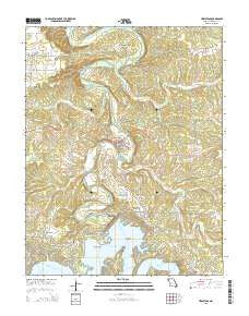 Hermitage Missouri Current topographic map, 1:24000 scale, 7.5 X 7.5 Minute, Year 2015