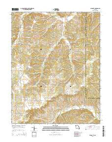 High Gate Missouri Current topographic map, 1:24000 scale, 7.5 X 7.5 Minute, Year 2015