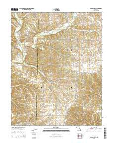 Highlandville Missouri Current topographic map, 1:24000 scale, 7.5 X 7.5 Minute, Year 2015