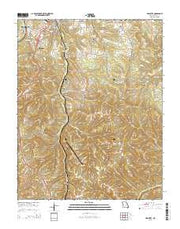 Hollister Missouri Current topographic map, 1:24000 scale, 7.5 X 7.5 Minute, Year 2015 from Missouri Maps Store