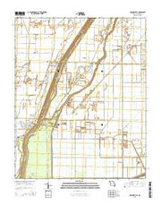 Hornersville Missouri Current topographic map, 1:24000 scale, 7.5 X 7.5 Minute, Year 2015 from Missouri Maps Store