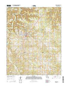 Houston Missouri Current topographic map, 1:24000 scale, 7.5 X 7.5 Minute, Year 2015
