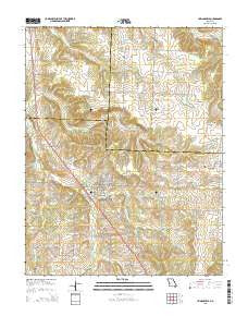 Humansville Missouri Current topographic map, 1:24000 scale, 7.5 X 7.5 Minute, Year 2015