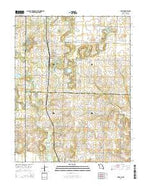 Hume Missouri Current topographic map, 1:24000 scale, 7.5 X 7.5 Minute, Year 2014 from Missouri Map Store
