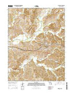 Huntsville Missouri Current topographic map, 1:24000 scale, 7.5 X 7.5 Minute, Year 2014 from Missouri Map Store