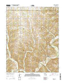 Hurley Missouri Current topographic map, 1:24000 scale, 7.5 X 7.5 Minute, Year 2015